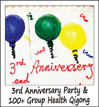 3rd Anniversary Party and Hundred Men Health Qigong