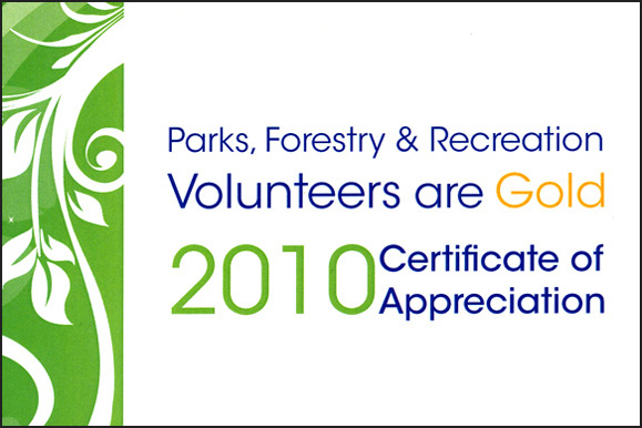 Volunteer Recognition Certification City of Toronto